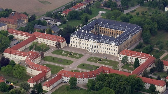 Luftaufnahme Ansicht Leipzig Nordsachsen Schloss Hubertusburg in Wermsdorf