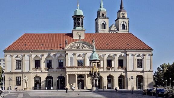 Altes Rathaus am Alten Markt in Magdeburg