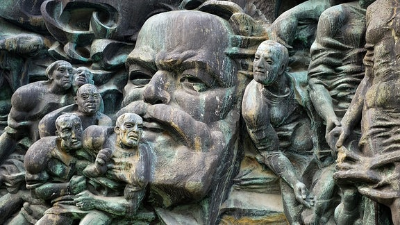 Karl Marx Relief in Leipzig